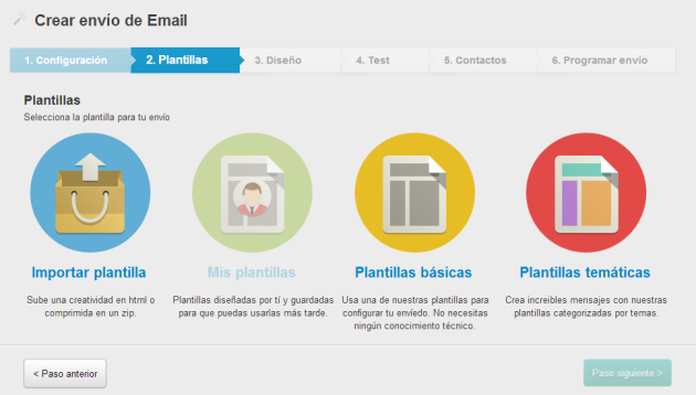 Plantillas email marketing Mdirector